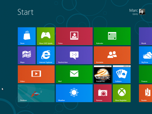 Metro unter Windows 8, frisch nach der Installation
